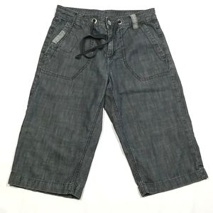 Tristan's Jeans Shorts Size 30 Front And Rear Pockets Dark Grey